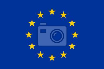 Fototapeta Flaga Europy, Unii Europejskiej