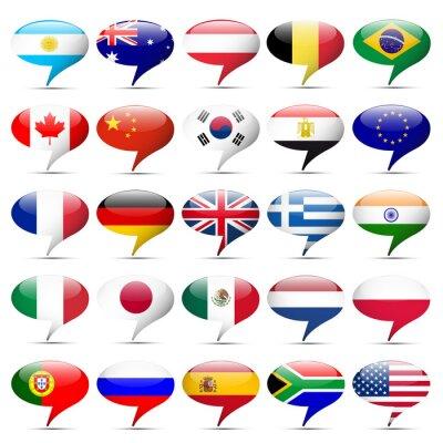 Fototapeta Flagi Ikony, które mówią