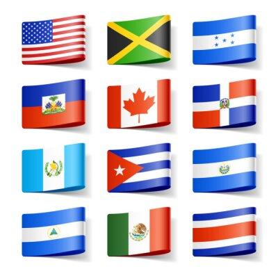 Fototapeta Flagi świata. Ameryka Północna.