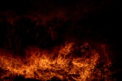Fototapeta Flame of fire,Abstract blaze fire flame texture for banner background,Fire background.