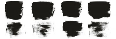 Fototapeta Flat Calligraphy Paint Brush Regular Short Background High Detail Abstract Vector Background Set