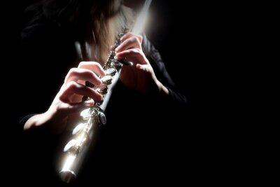 Fototapeta Flecista instrument muzyczny gra na flecie