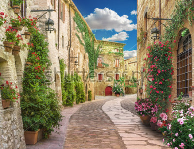 Fototapeta Flolar, old Italy street