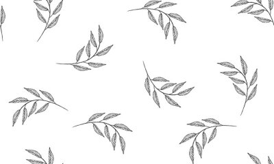 Fototapeta Floral pattern. Plant texture for fabric, wrapping, wallpaper and paper.