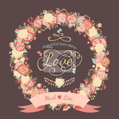 Floral ramki z róż