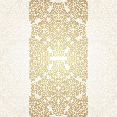 Fototapeta Floral tła ramki w motywem arabskiej