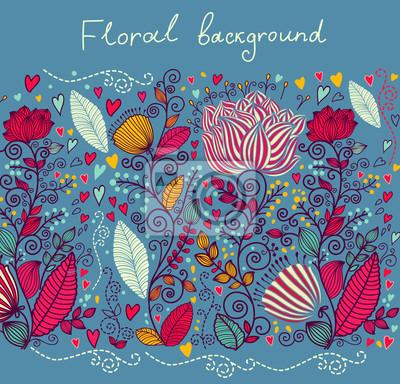 Fototapeta Floral tle