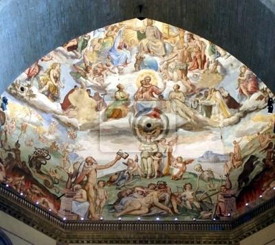 Florence, malowanie wewnątrz katedry