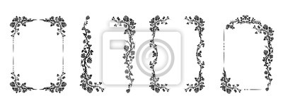 Fototapeta flourish design set