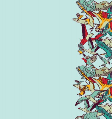 Fototapeta Fly ptaki niebo puste miejsce karty kolorów