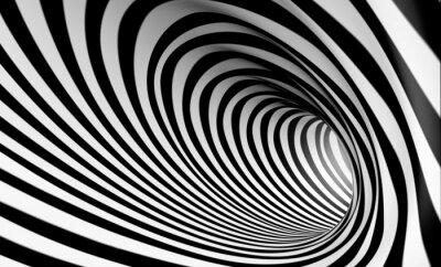 Fototapeta Fondo espiral abstracta 3d en blanco y negro