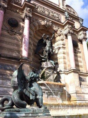 Fototapeta Fontaine Saint-Michel