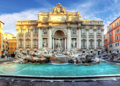 Fototapeta Fontanna di Trevi, Rzym, Włochy.