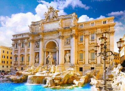 Fototapeta Fontanna di Trevi w Rzymie. Włochy.