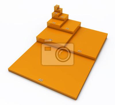 Format 3d Din Konzept A0 Bis A8 Pomarańczowy 02 Fototapety Redro