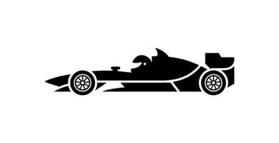 Fototapeta Formula 1 racing car vector icon.
