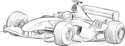 Fototapeta formula 1 vector drawing