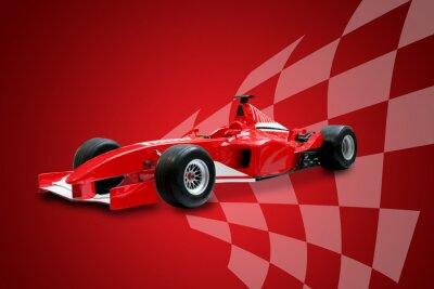 Formuła czerwona flaga wyścigów samochodów i