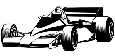 Fototapeta Formula One - Driver and Car Racing