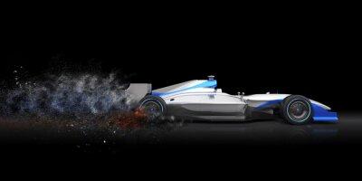 Fototapeta Formula One samochód z szlak pyłu