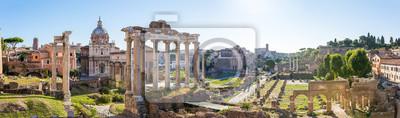 Fototapeta Forum Romanum widok z Kapitolu, Rzym we Włoszech. Pano