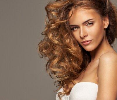Fototapeta Fotografia mody piękna blondynka z naturalnym makijażu