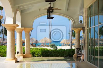 Fototapeta Foyer plaży Marble w luksusowych rezydencji