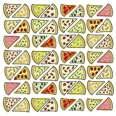 Fototapeta Fragmenty różnych pizzy