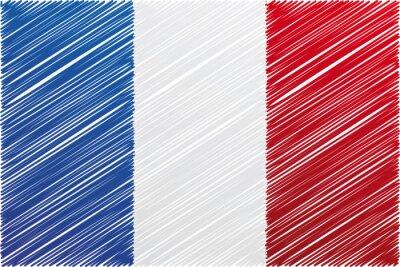Fototapeta Francja flaga, ilustracji wektorowych