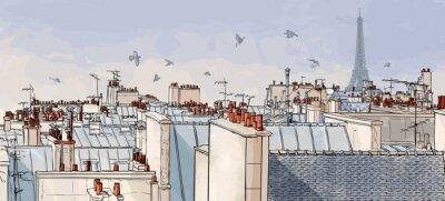 Fototapeta Francja - Paris dachy