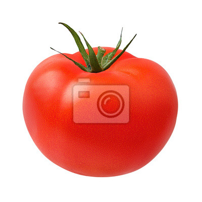 Fototapeta Fresh tomato isolated on white background with clipping path