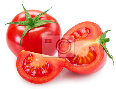 Fototapeta Fresh tomato on white background