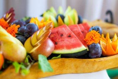 Fototapeta Fruit bowl full of ripe fruits