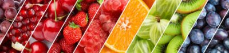 Fototapeta Fruits. Background of fresh food. Color ripe fruits