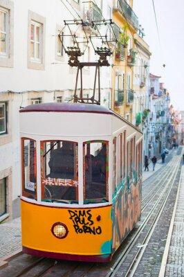 Fototapeta Funicular in Lisbon, Portugal