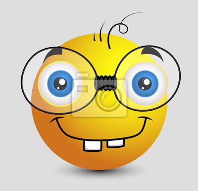 334578236e Fototapeta Funny Book Worm Emotikon Smiley emotikon na wymiar ...