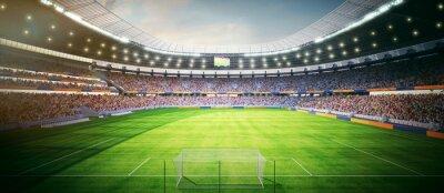 Fototapeta Fussball Stadion am Nachmittag - stadion piłkarski w godzinach popołudniowych