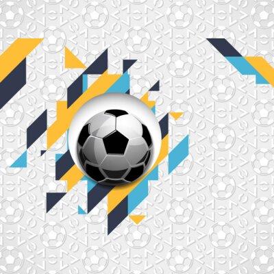 Fototapeta Futbolowy piłki nożnej piłki abstrakt obdziera deseniowego sporta wektorowego ilustracyjnego tło