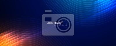 Fototapeta futuristic technology lines background with light effect