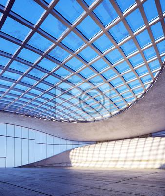 Fototapeta futuristische halle - minimalistyczna hali