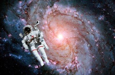 Fototapeta Galaktyka spiralna astronauta Spaceman