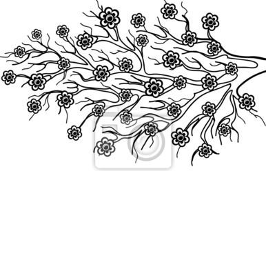 Gałąź drzewa kwitnące, symbol wiosny
