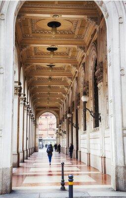 Fototapeta Galeria arkadami w Bolonia, Włochy