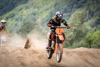 Fototapeta gara di motocross
