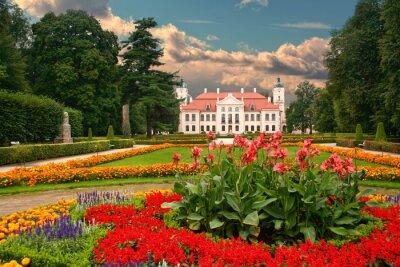 Fototapeta Garden in the French Baroque style. Kozlowka, Poland.
