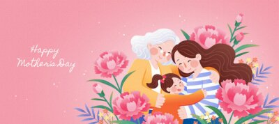Fototapeta Generations gather on mother's day