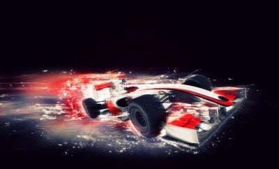 Fototapeta Generic bolid F1 ze szczególną mocą prędkości
