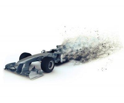 Fototapeta Generic samochód wyścigowy 3D z mocą prędkości