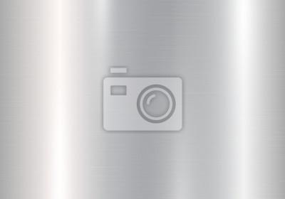 Fototapeta Genialny tło z srebrnym gradientem i kruszcowym tekstura skutkiem. Ilustracji wektorowych z jasnymi plamami polerowanego metalu