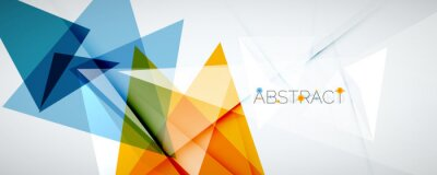 Fototapeta Geometric abstract background. Color triangle shapes. Vector illustration for covers, banners, flyers and posters and other designs